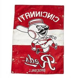Cincinnati Reds EG Vintage GARDEN Flag Premium 2-sided Retro