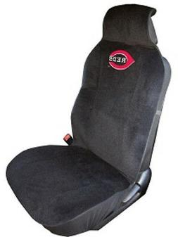 Cincinnati Reds Embroidered Seat Cover   Car Auto MLB Black