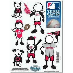 Cincinnati Reds Family Decals 6 Pack  MLB Small Auto Car Sti