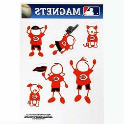 Cincinnati Reds Family Magnet Set  Auto Car Stickers Emblems