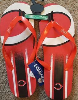 CINCINNATI REDS Flip Flop Size Small Medium or Large Sandals
