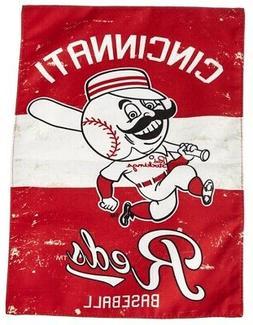Cincinnati Reds Garden Flag 2 Sided Vintage Logo Baseball Di