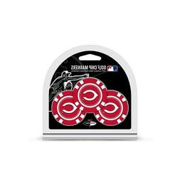 Cincinnati Reds Golf Chip with Marker 3 Pack  MLB Mark Golfi