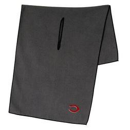 "CINCINNATI REDS GRAY MICROFIBER WAFFLE GOLF TOWEL 19""X41"" NE"
