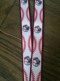Cincinnati Reds Lanyard MLB Mr. Redlegs Clip Neck Tag Keycha