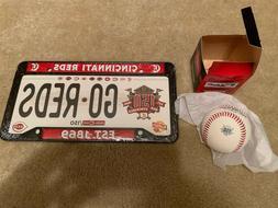 Cincinnati Reds License Plate SGA 6/16/19 Fathers Day 150th