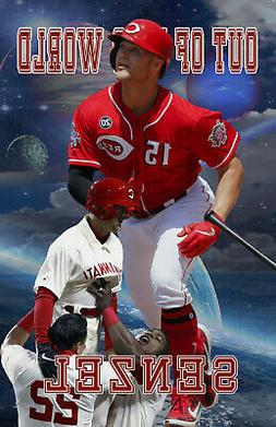 Cincinnati Reds Lithograph print of  Nick Senzel out of this