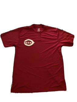 Cincinnati Reds Men's Baseball Button Up Shirt - Majestic -