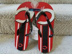 MLB Cincinnati Reds Men's Flip Flops  NEW!!