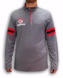 Cincinnati Reds Men's Long Sleeve Polyester T-shirt MLB Genu