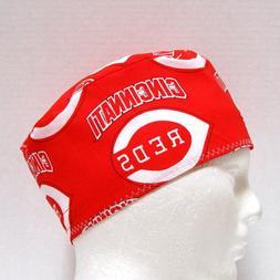Cincinnati Reds Mens Scrub Hat, Surgical Cap, Skull Cap, Che