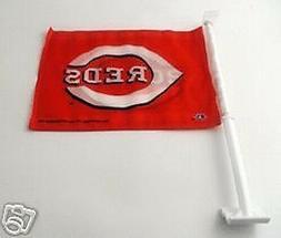 Cincinnati Reds  MLB Baseball 2 Sided Car Flag