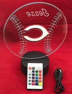 Cincinnati Reds MLB Baseball Light Up Lamp LED With Remote P
