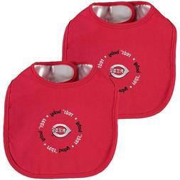 Cincinnati Reds MLB Bib 2 Pack Baby Toddler One Size Cotton