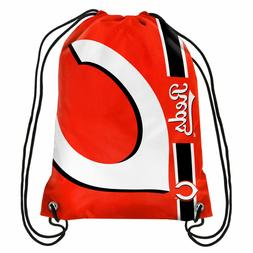 Cincinnati Reds MLB Big Logo Side Stripe Drawstring Backpack