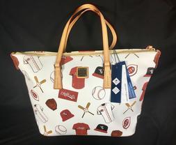 Cincinnati Reds MLB Dooney & Bourke Handbag Purse Zip Top Sh