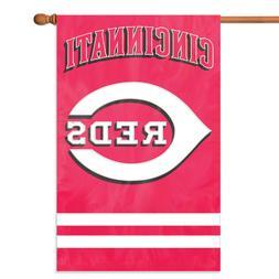 "Cincinnati Reds MLB Embroidered Vertical Premium 44"" x 28"" O"