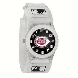 CINCINNATI REDS Game Time MLB Fan WATCH Youth ROOKIE WHITE S