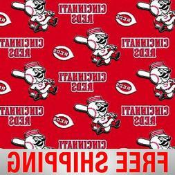 "Cincinnati Reds MLB Fleece Fabric - 60"" Wide - Style# 6546 -"