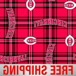 "Cincinnati Reds MLB Fleece Fabric -60"" Wide - Style# 6624 -"