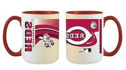 Cincinnati Reds MLB Full Wrap 15oz Jumbo Coffee Mug FREE SHI