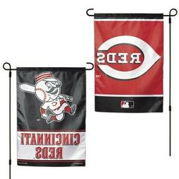 "Cincinnati Reds MLB Garden Flag Double Sided Licensed 12"" x"