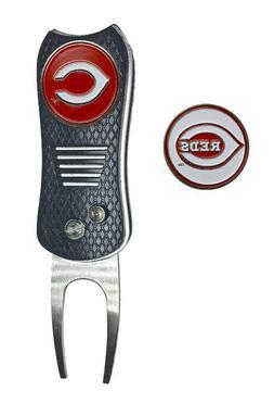 Cincinnati Reds MLB Golf Ball Marker + Switchfix Switchblade