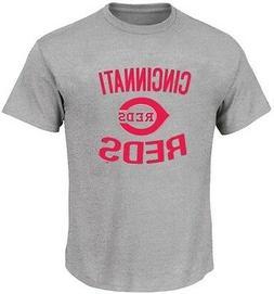 Cincinnati Reds MLB Majestic Men's Baseball Print Tee Shirt
