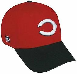 Cincinnati Reds MLB OC Sports Red Black Two Tone Hat Cap Adu