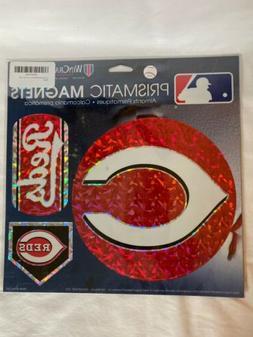 """Cincinnati Reds MLB Prismatic Magnet Sheet Hologram 11x11"""" s"""