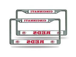 Cincinnati Reds MLB  Chrome Metal License Plate Frames