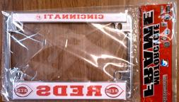 Cincinnati Reds MOTORCYCLE  Chrome License Plate Frame
