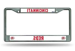 Cincinnati Reds New Design Chrome Frame Metal License Plate
