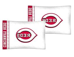 Cincinnati Reds Pillow Cases MLB Baseball Pillowcase Set Bed