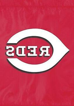 Cincinnati Reds Premium Garden Flag Applique Embroidered Out