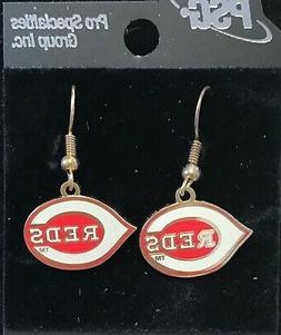 Cincinnati Reds Primary Logo J Hook Earrings NEW