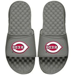 Cincinnati Reds ISlide Primary Logo Slide Sandals - Gray