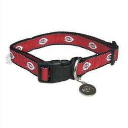 cincinnati reds reflective pet collar from staygoldendoodle