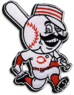 Cincinnati Reds Running Man Logo Team Jersey Sleeve Patch Of