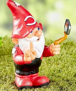 Cincinnati Reds Selfie Gnome Baseball Garden Yard Lawn Porch