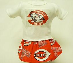 Cincinnati Reds Theme Outfit For 18 Inch Doll