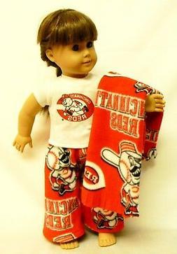 Cincinnati Reds Theme PJ's For 18 Inch Doll