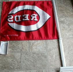 Cincinnati Reds DOUBLE SIDED LOGO 11 x 14 CAR FLAG ! FREE SH