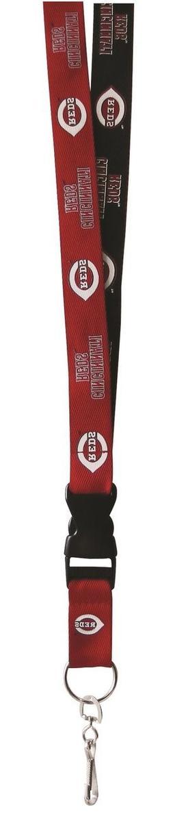 Cincinnati Reds Two Tone Lanyard Key Ring  NBA Chain ID Badg