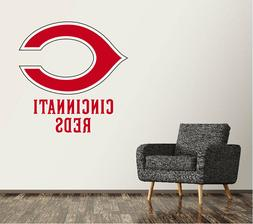 Cincinnati Reds Wall Decal Logo Baseball MLB Custom Art Deco
