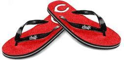 Cincinnati Reds Women's MLB Thong Flip Flop Glitter Slippers