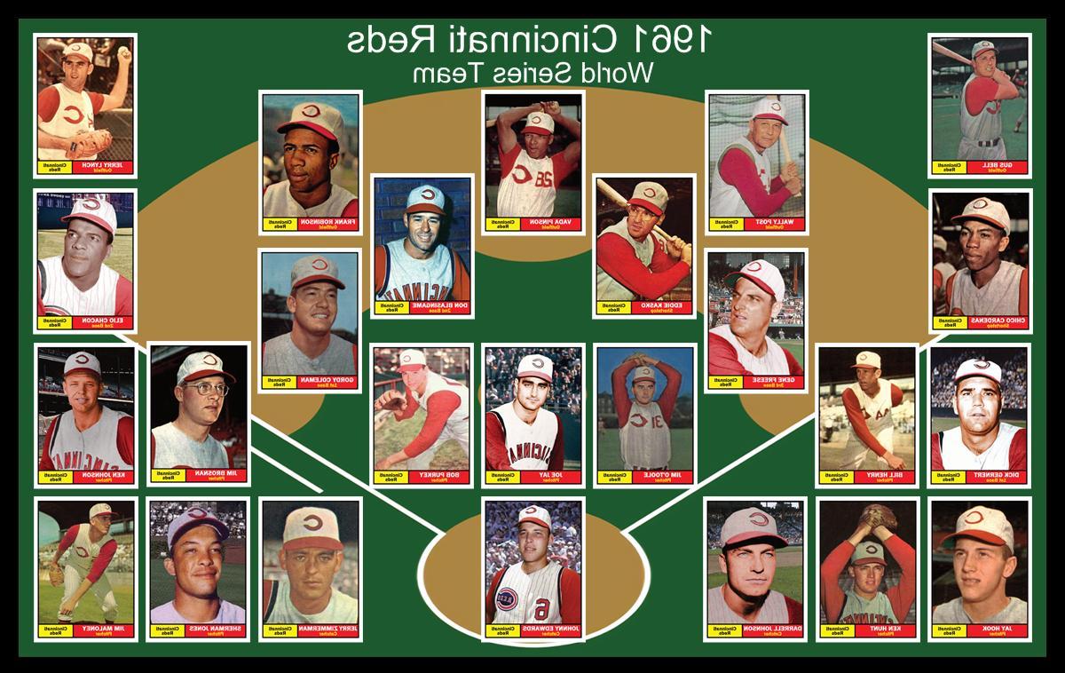 1961 cincinnati reds world series history poster