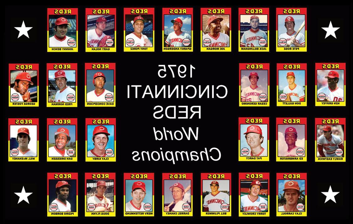 1975 cincinnati reds world series poster memorabilia