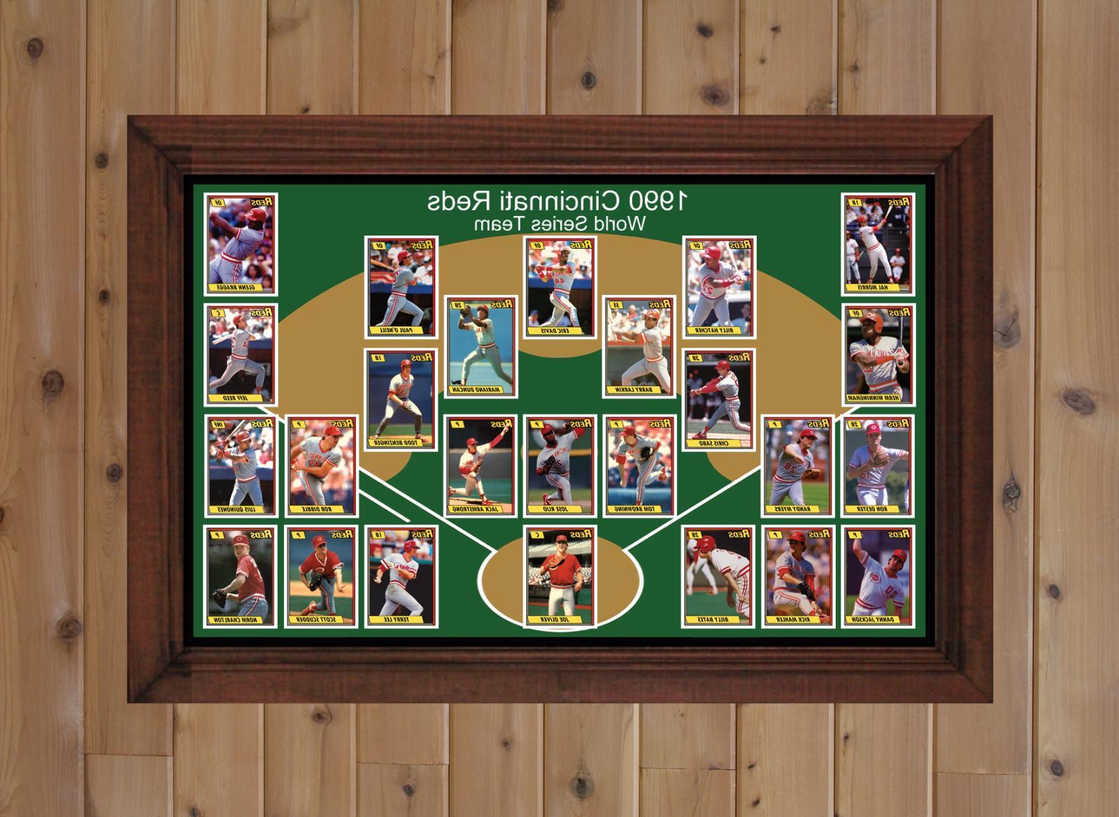 1990 CINCINNATI REDS World Series Team Photo Art Gift Larkin