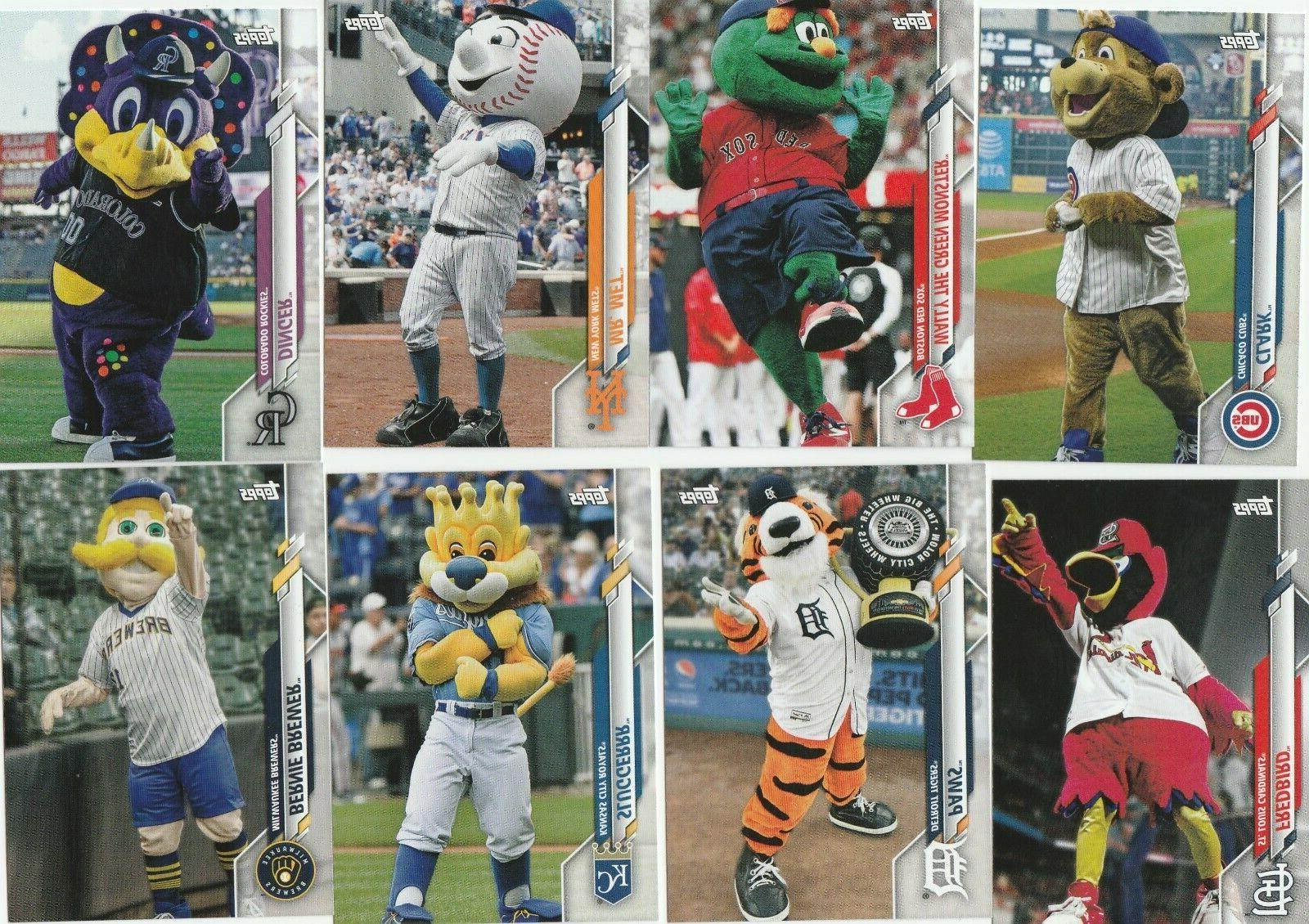 2020 topps opening day baseball mascot insert